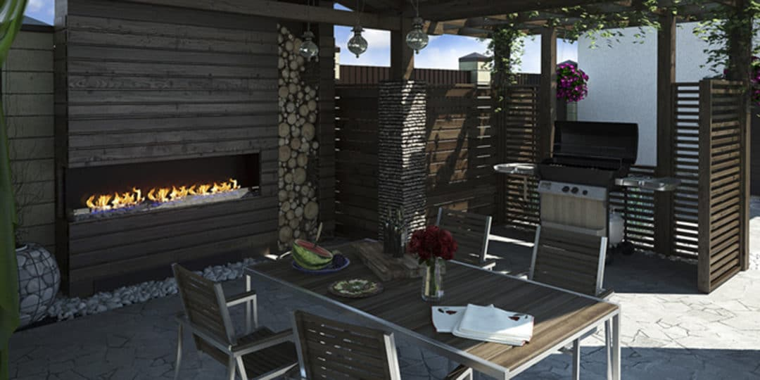 Outdoor Kitchen with Fire PIt