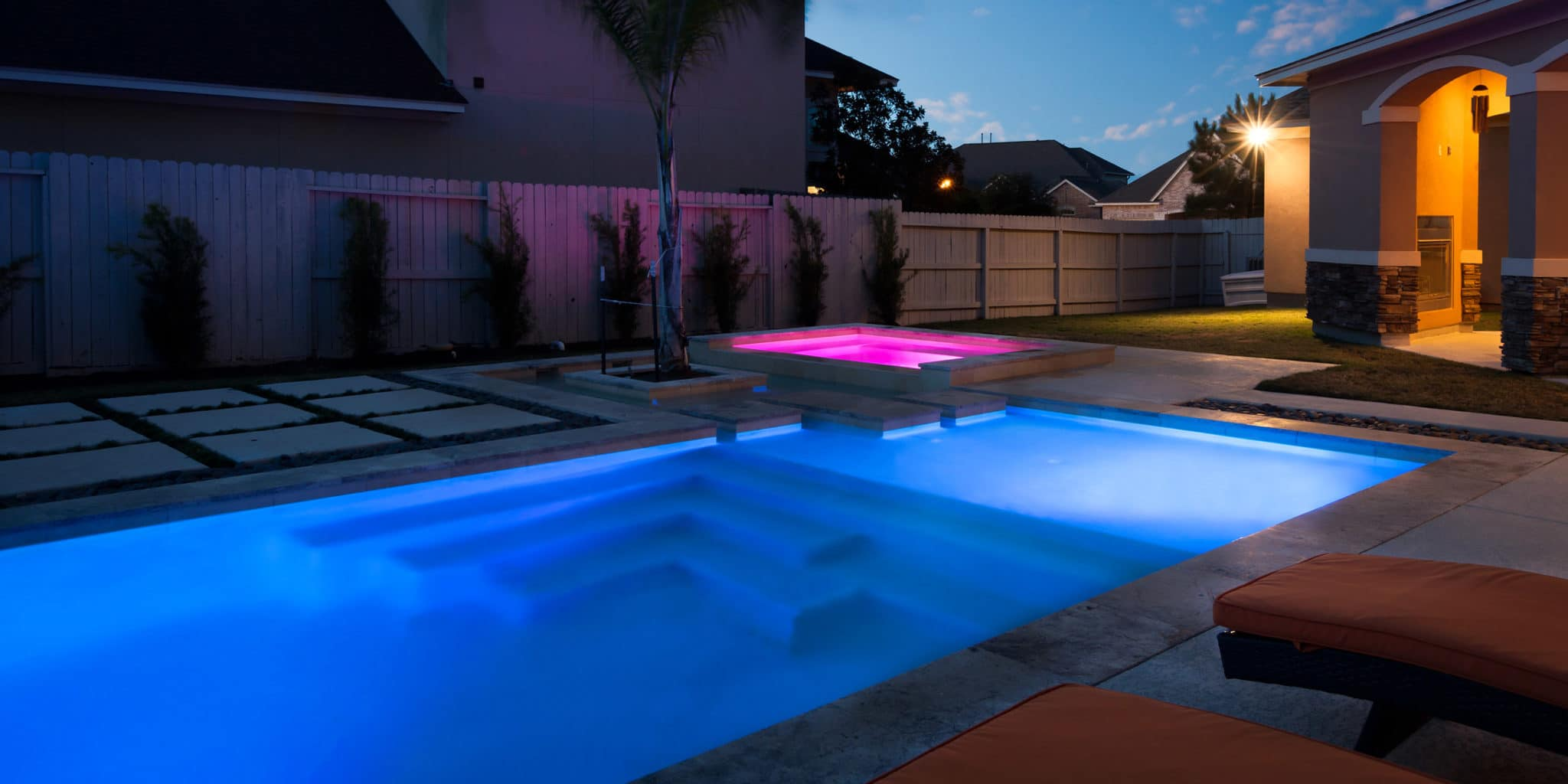 Custom Pool with lighting