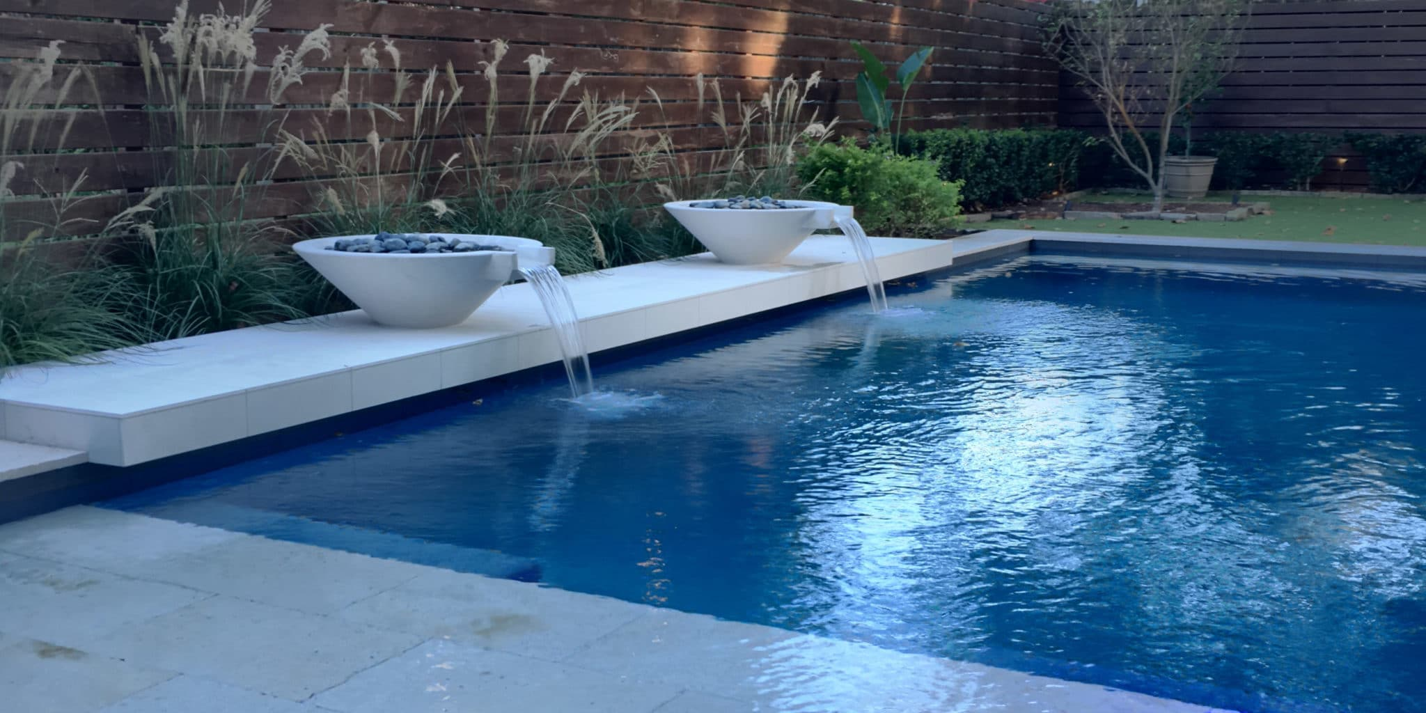 Water features and pool